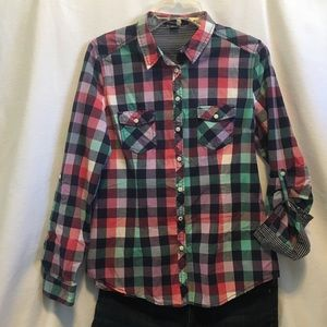 Forever 21 button down plaid shirt